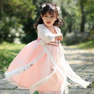 溪花记汉服女童中国风童装春夏复古唐装连衣裙小女孩古装改良襦裙