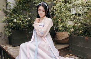 重回汉唐原创汉服女燕燕于飞日常古中国风对襟齐胸襦裙套装春夏季