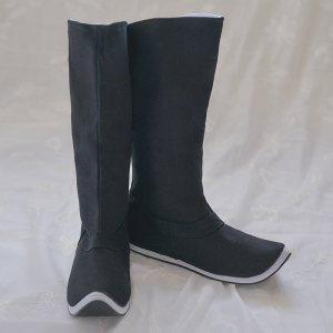 [如梦霓裳]汉服饰品复古翘头尖头皂靴官靴千层底手工男女鞋靴布靴