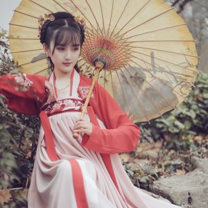 池夏 菩提:莲瑟 原创设计改良汉服齐胸襦裙套装 莲花刺绣