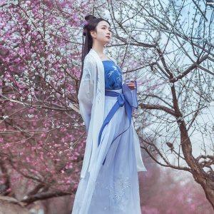重回汉唐湘赋长褙子女汉服中国风外套原创一片式裙吊带三件套夏装