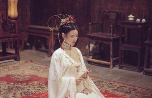 池夏 曼珠沙华洛离原创明制改良汉服女彼岸花长袄6米摆织金马面裙