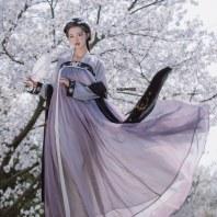 【泠鸢】梨花渡原创汉服女 6米摆超仙飘逸齐胸对襟襦裙春夏装
