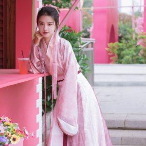 【舒荷】梨花渡原创汉服女晋制交领齐腰十二破裙中国风夏季套装