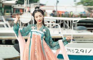 汉尚华莲红珊瑚正品原创超仙免费抢红包最快的软件女中国风绣花改良两片式齐胸襦裙