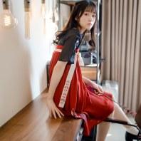 徐娇织羽集[归去来] 汉服元素女中国风 夏季新款齐胸连衣裙