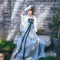 徐娇织羽集[小池]汉服元素女夏季齐胸襦裙日常改良原创设计连衣裙
