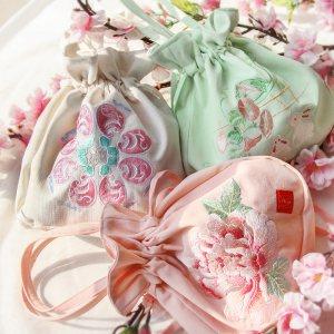 衔泥小筑原创设计传统古风包包汉服周边配饰绣花单肩手提包多色入