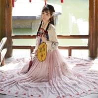【十三余 小豆蔻儿】[鹿王梵音]6米摆下裙对襟上衫齐胸衫裙汉服女