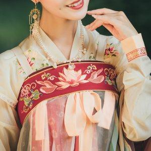 重回汉唐锦璃腰带搭配齐胸襦裙汉服女周边配饰原创绣花民族风饰品