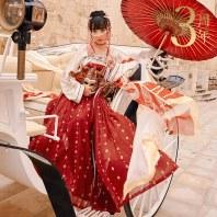 【十三余 小豆蔻儿】[拜月长生]对襟衫6米摆下裙刺绣齐胸汉服女