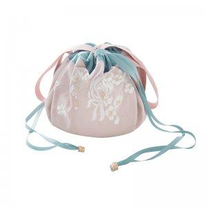 【十三余 小豆蔻儿】[少女发簪]系带抽绳手提绣花化妆收纳包