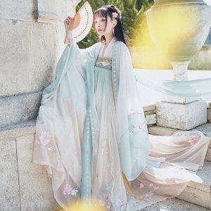 【十三余 小豆蔻儿】[婴宁]重工刺绣广袖大袖衫绣花汉服外套女装