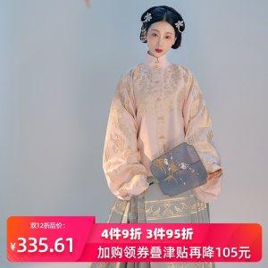 重回汉唐 凤鸾歌 织金立领对襟明制短袄裙马面裙汉服女中国风秋冬