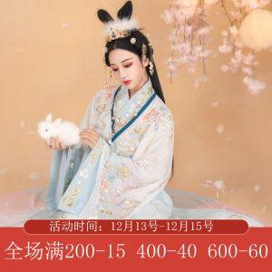 【月中桂】梨花渡原创传统中国风汉服女晋制齐腰十二破交窬裙