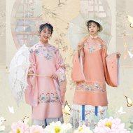 【山海客】 梨花渡原创 春秋季中国风女装汉服直袖长袄马面裙全套