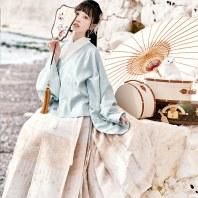 【十三余 小豆蔻儿】[花鸟行吟]六色交领上衫织金马面裙汉服女冬