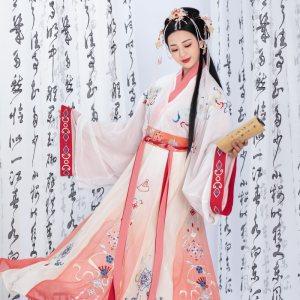 【毓婉】梨花渡原创传统中国风汉服女晋制齐腰十二破襦裙套装