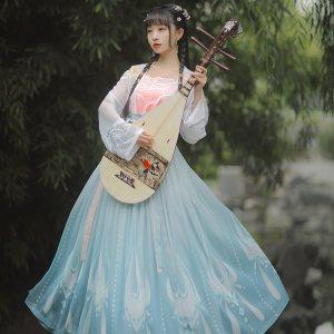 【十三余 小豆蔻儿】[杨玉环霓裳风华-王者荣耀联名款]齐腰裙汉服