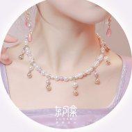 【东月棠原创】玉摇新款可爱铃铛古风简约女珍珠项链手链汉服璎珞