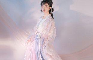 【东月棠-原云裳纪】春樱紫蓝 六米摆一片齐腰裙齐胸大袖衫裙汉服