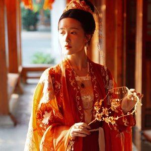 徐娇织羽集【渚清沙】西塘汉服文化周联名款 刺绣襦裙红色大袖衫