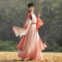 【十三余 小豆蔻儿】[凤阙]双层长褙子宋抹吊带一片式下裙汉服女