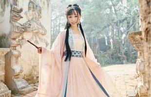 【十三余 小豆蔻儿】[桃夭]刺绣对襟衫6米摆一片式齐腰下裙汉服女