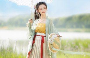 光夕【念南歌】宋制对襟飞机袖褶裙日常款原创正品改良汉服女夏季