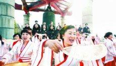 公园办特色活动迎新年:市民着汉服起舞读诗