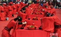 安徽合肥上演集体婚礼 千年传统唯美传承