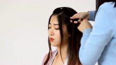 【汉服发型】一款适合手残党极简单的中长发古风发型教程,真的是仙气满满