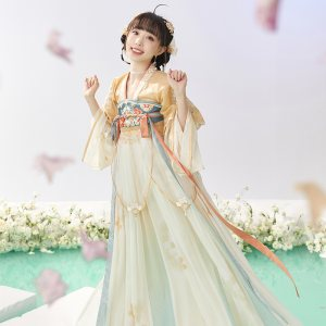 【十三余 小豆蔻儿】[青玉金铃-阿巳与小铃铛联名款]齐胸裙女夏季