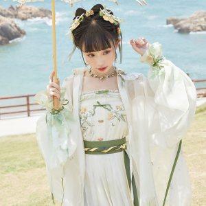 【十三余 小豆蔻儿】[柠檬百合] 对襟长衫云肩吊带褶裙明制汉服女
